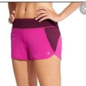 Athleta Pink and Berry Track This Run Shorts